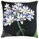 Midnight Flowers Outdoor Pillow
