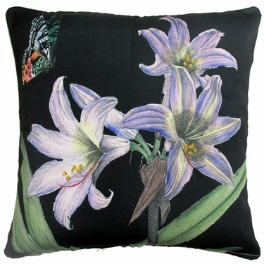Midnight Lilies Outdoor Pillow - Click to enlarge