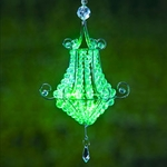 Mini Chandelier LED Light - Green (Set of 2)