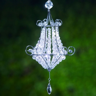 Mini Chandelier LED Light - White (Set of 2) - Click to enlarge