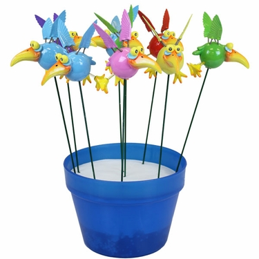 Mini Dodo Bird Plant Stakes (Set of 18) - Click to enlarge