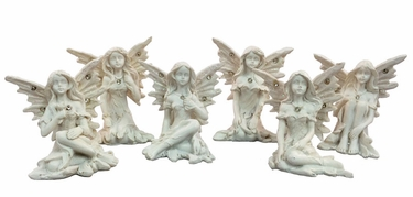 Mini Fairies w/Diamonds (Set of 6) - Click to enlarge