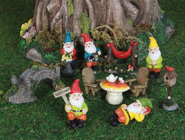 Mini Gnome Garden Kit (11pc Set) - Click to enlarge
