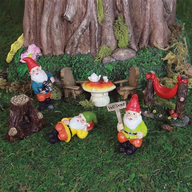 Mini Gnome Garden Kit (8pc)   Click To Enlarge