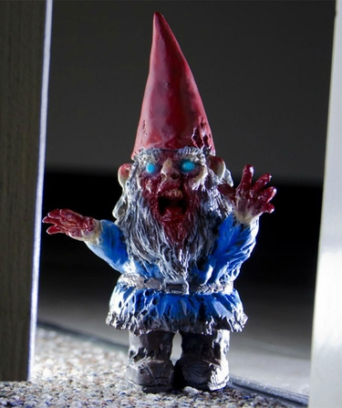 Mini Zombie Garden Gnome - Blue - Click to enlarge