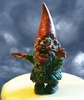 Mini Zombie Garden Gnome - Green