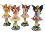 Miniature Fairy w/Mushroom (Set of 4)