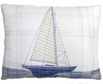Model Sailboat Outdoor Pillow