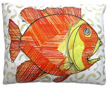Modern Fish Outdoor Pillow - Click to enlarge