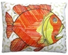 Modern Fish Outdoor Pillow