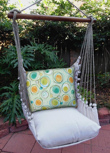 Modern Green Circles Hammock Chair Swing Set - Click to enlarge