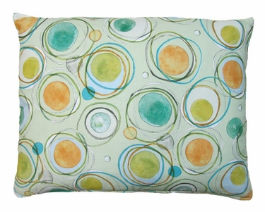 Modern Green Circles Outdoor Pillow - Click to enlarge