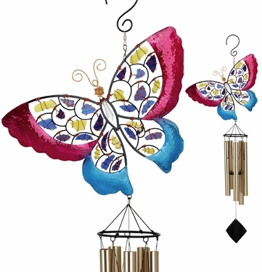 Mosaic Butterfly Wind Chime - Click to enlarge
