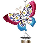 Mosaic Butterfly Wind Chime