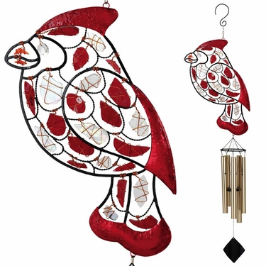 Mosaic Cardinal Wind Chime - Click to enlarge