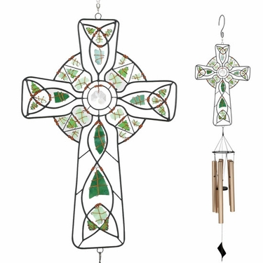 Mosaic Cross Wind Chime - Click to enlarge