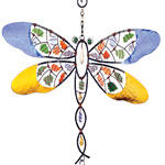 Mosaic Dragonfly Wind Chime