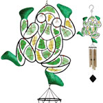 Mosaic Frog Wind Chime