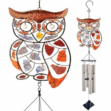Mosaic Owl Wind Chime - Click to enlarge