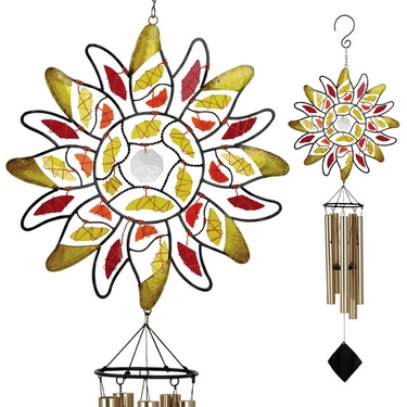 Mosaic Sun Wind Chime - Click to enlarge