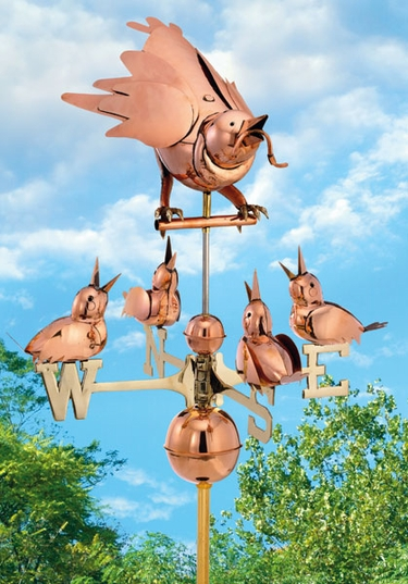 Mother Bird & Chicks Weathervane - Click to enlarge