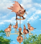 Mother Bird & Chicks Weathervane