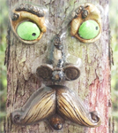 Mr. Moustache Tree Face