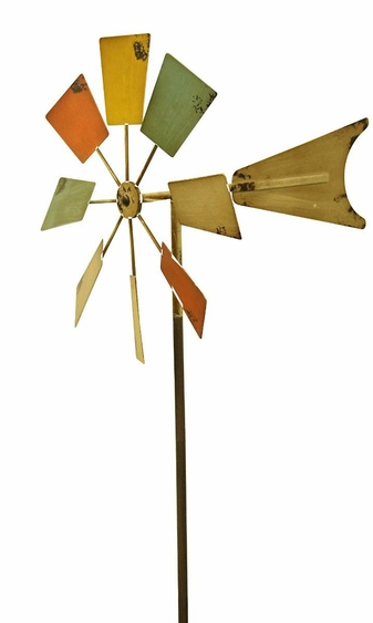 Multi-Color Metal Windmill - Click to enlarge