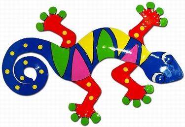 Multi-Colored Diamond Gecko Wall Decor - Click to enlarge