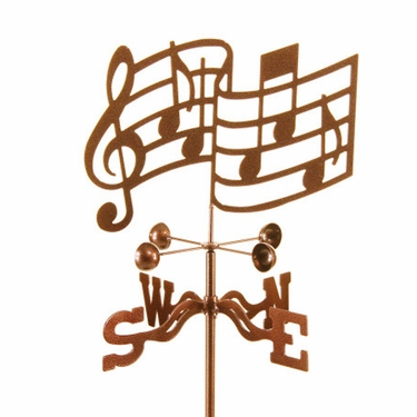 Musical Notes Weathervane - Click to enlarge