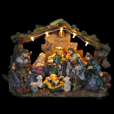 Nativity Decor w/LED Lights - Click to enlarge