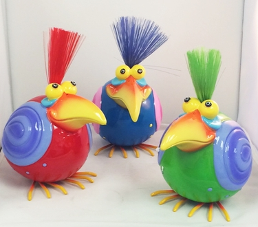 Nerdy Bird Statues (Red/Blue/Green) - Click to enlarge