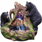 Northern Forest Bears Fountain w/LED Lights