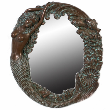 Nude Mermaid's Reef Mirror - Bronze Green Finish - Click to enlarge