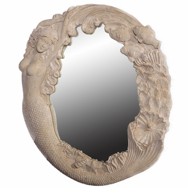 Nude Mermaid's Reef Mirror - Roman Stone - Click to enlarge