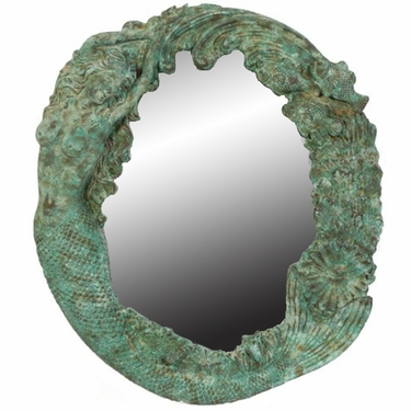 Nude Mermaid's Reef Mirror - Shipwreck Finish - Click to enlarge
