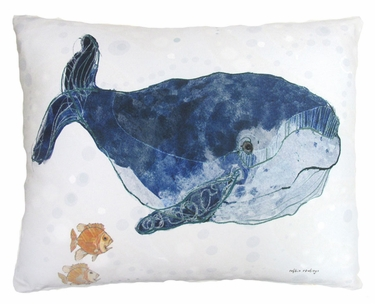 Ocean Whale Outdoor Pillow - Click to enlarge