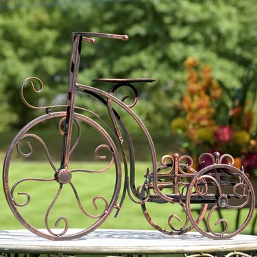 One Pot Tricycle Plant Stand - Antique Bronze - Click to enlarge
