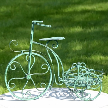 One Pot Tricycle Plant Stand - Antique Green - Click to enlarge