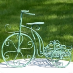 One Pot Tricycle Plant Stand - Antique Green