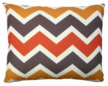 Orange Brown Chevron Outdoor Pillow - Click to enlarge