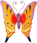 Orange Butterfly 3D Wall Art