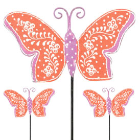 Orange Butterfly Picks (Set of 6) - Click to enlarge