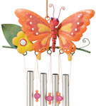 Orange Butterfly Wind Chime