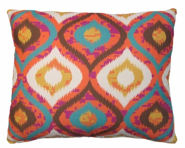 Orange Ikat Outdoor Pillow - Click to enlarge