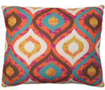 Orange Ikat Outdoor Pillow