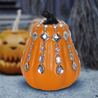 Orange Jeweled Pumpkin - Click to enlarge