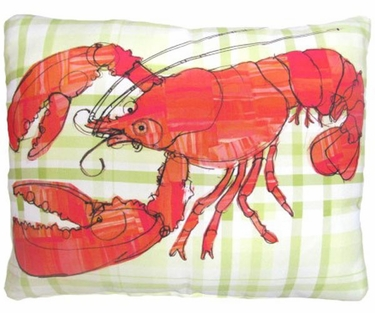 Orange Lobster Outdoor Pillow - Click to enlarge