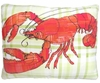 Orange Lobster Outdoor Pillow