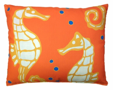 Orange Seahorses Outdoor Pillow - Click to enlarge